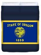 Oregon Flag Duvet Cover