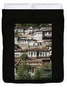 Ottoman Architecture View In Historic Berat Old Town Albania Duvet Cover