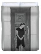 Closing The Doorway To The Past Duvet Cover