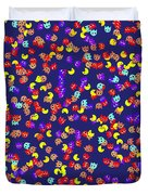 Pacman Seamless Generated Pattern Duvet Cover