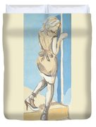 Painting Of A Young Woman Duvet Cover