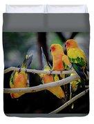 Parrots Duvet Cover