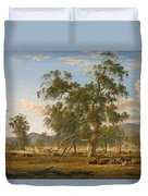 Patterdale Landscape With Cattle Duvet Cover