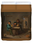 Peasants In A Tavern Duvet Cover