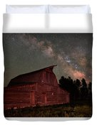 2 Percent Milk At The Moulton Barn Duvet Cover
