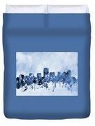 Phoenix Skyline-blue Duvet Cover