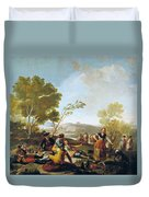 Picnic On The Banks Of The Manzanares Duvet Cover