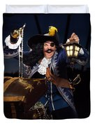Pirate With A Treasure Chest Duvet Cover by Oleksiy Maksymenko