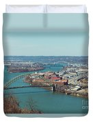 Pittsburg Skyline Duvet Cover