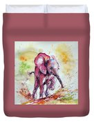 Playing Elephant Baby Duvet Cover