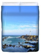 Point Arena Lighthouse Duvet Cover by Jim Thompson