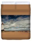 Point Of Ayre Lighthouse Duvet Cover