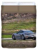 #porsche #718cayman S #print Duvet Cover