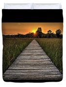 Prairie Boardwalk Sunset Duvet Cover