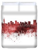 Pretoria Skyline In Watercolor Background Duvet Cover