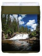 Provo River Falls Duvet Cover