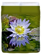 Purple Water Lily Pond Flower Wall Decor Duvet Cover