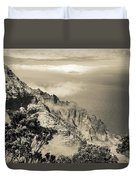 Puu O Kila Lookout, Kauai, Hi Duvet Cover by T Brian Jones