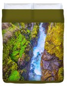 Pyrenees Waterfall Duvet Cover