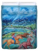 Racing The Lightning Home Duvet Cover