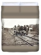 Railroad Workers Duvet Cover