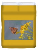 Red Admirable Butterfly Duvet Cover