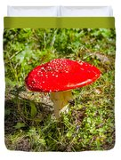 Red And White Potted Toadstool Duvet Cover