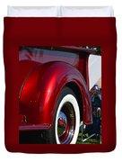 Red Chevy Pickup Fender Duvet Cover