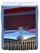 Red Ford Hotrod Duvet Cover