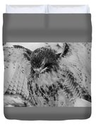 Red-tailed Hawk In Snow Duvet Cover