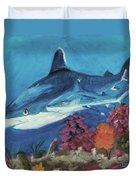 2 Reef Sharks Duvet Cover