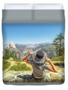 Relaxing At Glacier Point Duvet Cover