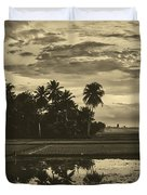Rice Field Sunrise - Indonesia Duvet Cover