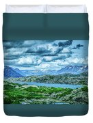 Rocky Mountains Nature Scenes On Alaska British Columbia Border Duvet Cover