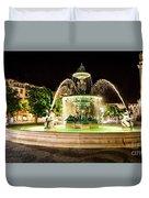 Rossio Square Night Duvet Cover