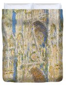 Rouen Cathedral, West Facade, Sunlight Duvet Cover