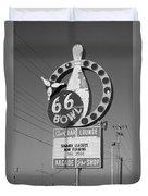 Route 66 Bowl Duvet Cover