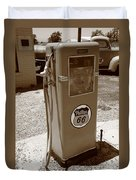 Route 66 Gas Pump Duvet Cover