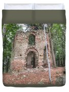 Ruins Of The Baroque Chapel Of Saint Mary Magdalene Duvet Cover