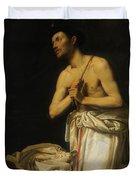 Saint Dominic In Penitence Duvet Cover