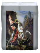 Saint George And The Dragon Duvet Cover