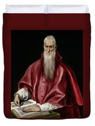 Saint Jerome As Scholar Duvet Cover