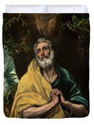 Saint Peter In Tears Duvet Cover