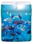 Saipan Marine Life Duvet Cover