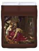 Samson And Delilah Duvet Cover