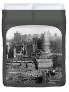 San Francisco Earthquake Duvet Cover