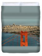 San Francisco Skyline Duvet Cover