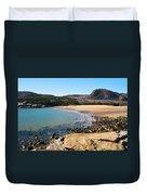 Sand Beach Acadia National Park Duvet Cover