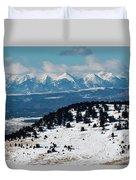 Sangre De Cristo Mountains In Winter Duvet Cover