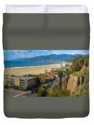 Santa Monica Ca Steps Palisades Park Bluffs  Duvet Cover